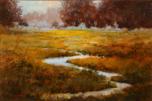 Meadowland Oil on Board by Shirley McKay