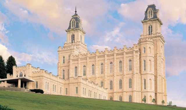 LDS Manti Temple in The Mormon Pioneer national Heritage Area