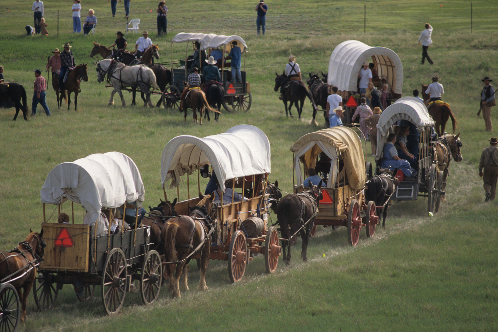Mormon Pioneers traveling west
