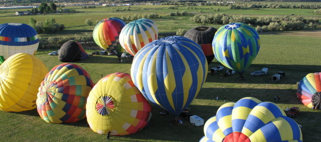 Sevier County Hot Air Balloon Festiva in The Mormon Pioneer Heritage Areal