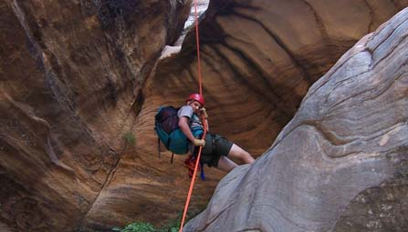 Canyoneering in Sion National Park Photo Courtesy of the National Park Service