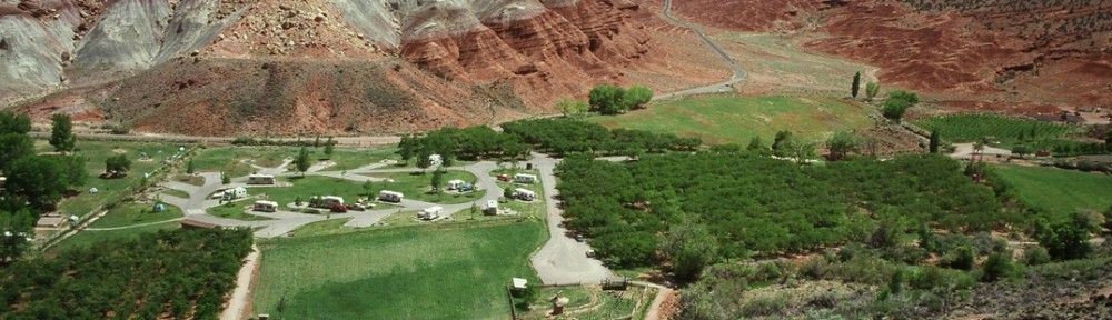 Campgrounds at Captiol Reef National Park in the Mormon Pioneer National Heritage Area