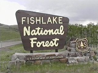 fish lake sign