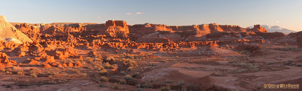 Sunset at Goblin Valley State Park in March. (Photo: Mike Godfrey, At Home in Wild Spaces)