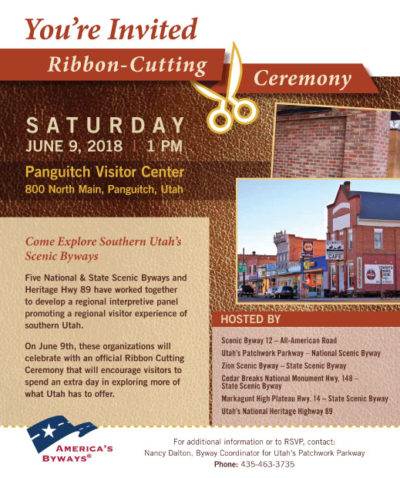 Press Release Panguitch Panel Ribbon Cutting June 9, 2018