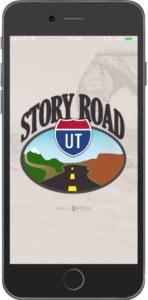 Story Road Utah app shown on a mobile phone