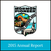 2015 Annual Report of the Mormon Pioneer National Heritage Area