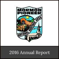 2016 Annual Report of the Mormon Pioneer National Heritage Area