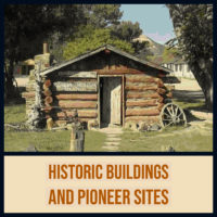Cabin and museum historic mormon pioneer buildings utah