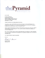 2019 The Pyramid support letter
