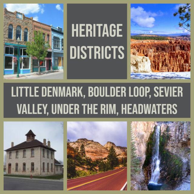 Heritage Districts of the Mormon Pioneer National Heritage Area in Utah
